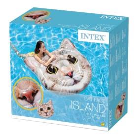 Intex Φουσκωτό Στρώμα Cat Face 147x135εκ 58784